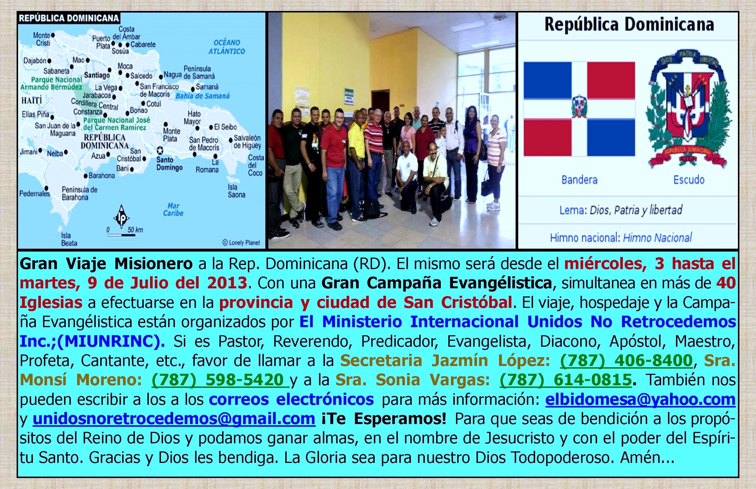 Matrimonio Biblia Paralela : Gran viaje misionero a la rep dominicana rd