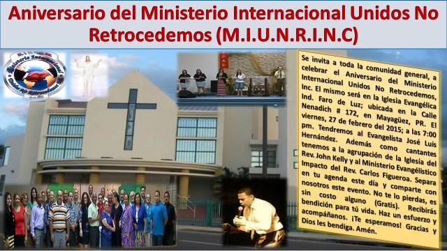 Aniversario del Ministerio Internacional Unidos No Retrocedemos (